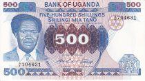 Uganda 500 Shillings Pres. Milton Obote - Cattle and harvesting