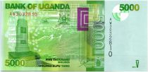 Uganda 5000 Shillings Mountain - Bird - 2015