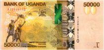 Uganda 50000 Shillings Gorillas - 2013