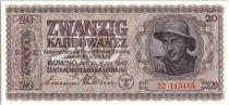 Ukraine 20 Karbowanez 1942 Occupation allemande