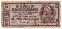 Ukraine 5 Karbowanez 1942 Occupation allemande