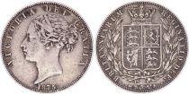 United Kingdom 1/2 Crown, Victoria - Arms - 1875