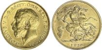 United Kingdom 1/2 Souverain George V - 1918 - Gold