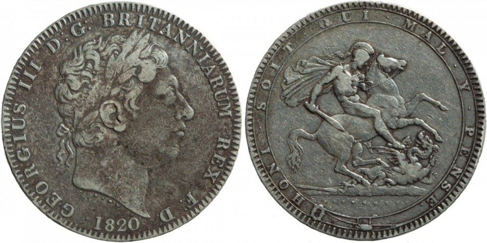 United Kingdom 1 Crown George III