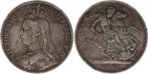 United Kingdom 1 Crown Victoria - Saintt George and dragon - 1887 Silver