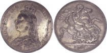 United Kingdom 1 Crown Victoria - St George and dragon - 1889