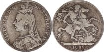 United Kingdom 1 Crown Victoria - St George and dragon - 1889 Silver