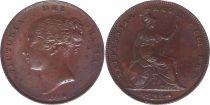 United Kingdom 1 Penny Victoria - 1854 on 3