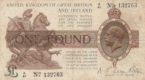 United Kingdom 1 Pound George V - St George,  dragon - 1922 -Fine - P.359