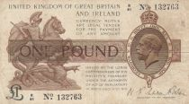 United Kingdom 1 Pound George V - St George,  dragon - 1922 -Fine - P.359