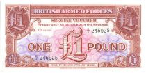 United Kingdom 1 Pound ND1956 - Brown and pink