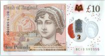 United Kingdom 10 Pounds Elizabeth II - Jane Austens - 2017 Polymer