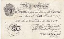 United Kingdom 10 Pounds False Operation Bernhard - 1932 - Londres - VF