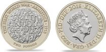 United Kingdom 2 Pounds  - Centenary of the WWI Armistice day 1918-2018 - Bimetal