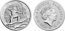 United Kingdom 2 Pounds Elizabeth II - Robin Woods -  Oz Silver 2021