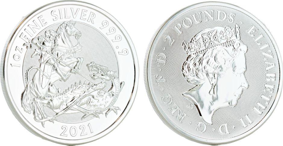 United Kingdom 2 Pounds Elizabeth II - Tha Valiant -  Oz Silver 2021