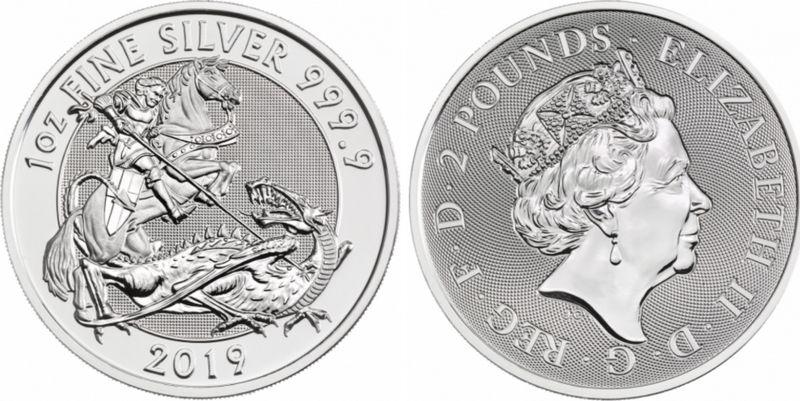 United Kingdom 2 Pounds Elizabeth II - The Valiant -  Oz Silver 2019