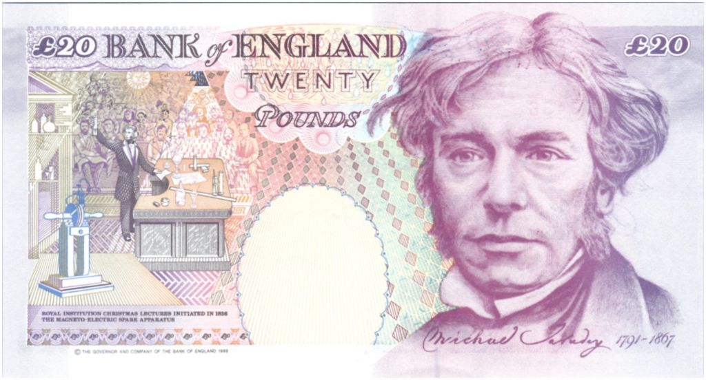 United Kingdom 20 Pounds Elisabeth II - Michael Faraday - 1993 (1999) - UNC