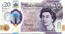 United Kingdom 20 Pounds Elizabeth II -Joseph Mallord William Turner  - 2020 - Polymer