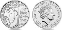 United Kingdom 5 £ - Viking - Roi Canute - 2017