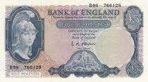 United Kingdom 5 Pounds Britannia, St George, dragon - ND (1961) - P.62 UNC