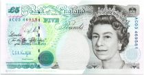 United Kingdom 5 Pounds Elizabeth II -  Michael Faraday - 1990 (1998) - UNC