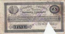 United Kingdom 5 Pounds Stamford Spalding and Boston Bank - 1899 - F