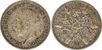 United Kingdom 6 Pence 1936 - Oak leaves, George V, silver