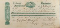 United Kingdom Volkart Brothers - Bill of Exchange (Third) 1876 - VF