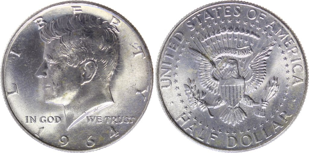 United States of America 1/2 Dollar Kennedy - 1964