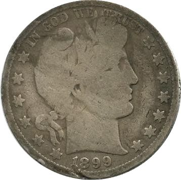 United States of America 1/2 Dollar Liberty, Barber