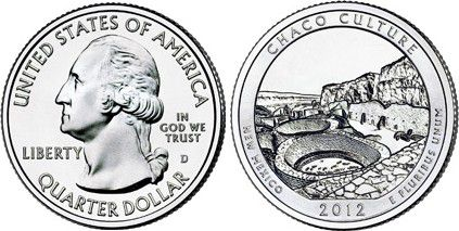 United States of America 1/4 Dollar Chaco Culture - 2012
