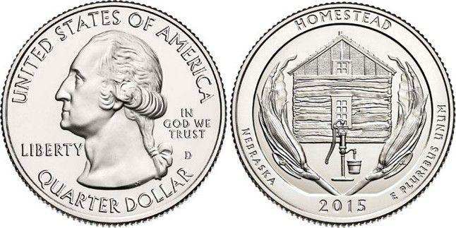 United States of America 1/4 Dollar Homestead - 2015 D Denver