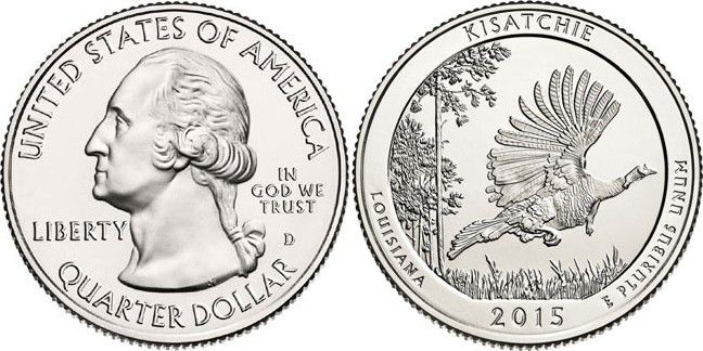 United States of America 1/4 Dollar Kisatchie - 2015 S San Francisco