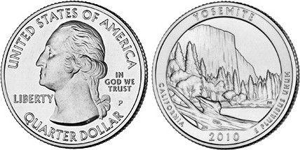 United States of America 1/4 Dollar Yosemite