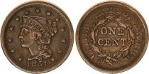 United States of America 1 Cent Liberty - 1851