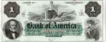 United States of America 1 dollar, Bank of America, Providence - 1860 - Letter B