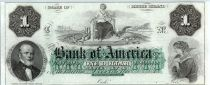 United States of America 1 dollar, Bank of America, Providence - 1860 - Letter C