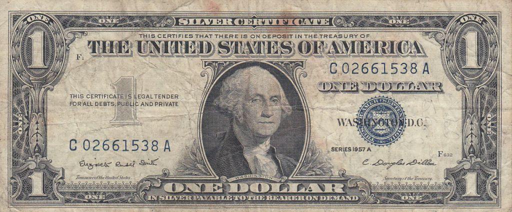 Banknote United States of America 1 Dollar Washington - Silver ...