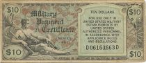 United States of America 10 Dollars Serial 481 - 1951