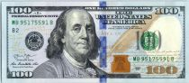 United States of America 100 Dollars Franklin -  B2 New York - 2013