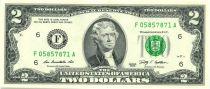 United States of America 2 Dollars Jefferson - 2009 F6 Atlanta