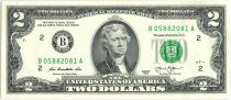 United States of America 2 Dollars Jefferson - Independance 1776 - 2013 B2 New York