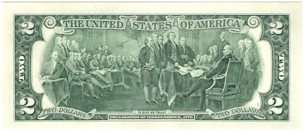 United States of America 2 Dollars Jefferson - Independance 1776 - 2013 F6 Atlanta