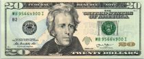 United States of America 20 Dollars Jackson - White House 2013 B2 New York
