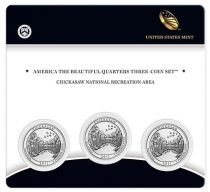 United States of America FDC.2011 Set of 3 coins of 1/4 $ Chickasaw