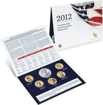 United States of America FDC.2012 1 $ Dollar Coin Set 2012 - 6 coins
