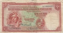 Uruguay 1 Peso - Indian - 1935 - Serial A - Fine + - P.28