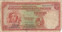 Uruguay 1 Peso - Indian - 1935 - Serial A - Fine - P.28