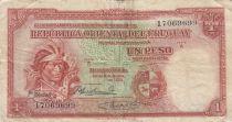 Uruguay 1 Peso - Indien - 1935 - Serial A - TB + - P.28